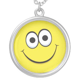 Happy cartoon smiley  face necklace