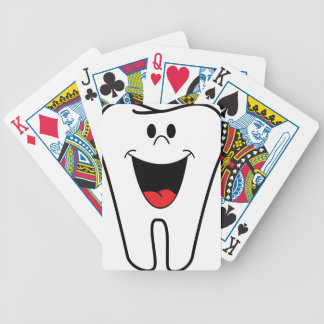 Happy Cartoon Tooth Bicycle Playing Cards