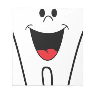 Happy Cartoon Tooth Notepad