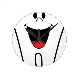 Happy Cartoon Tooth Round Clock
