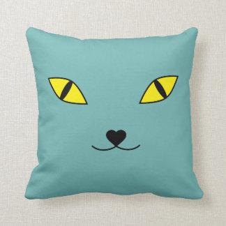 Happy cat face pillow