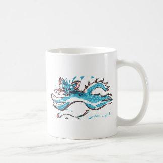 happy cat leaping coffee mug