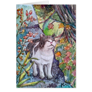 Happy Cat notecard
