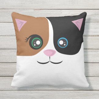 Happy Cat Pillow - Calico