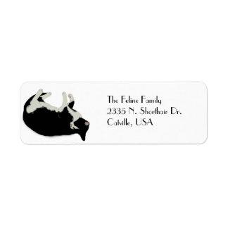 Happy Cat Return Address Label