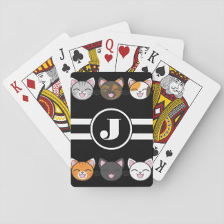 Happy Cats w/Monogram Playing Cards