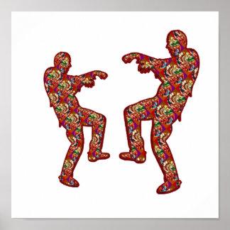HAPPY CELEBRATIONS Print: ZOMBIE  Dance Poster