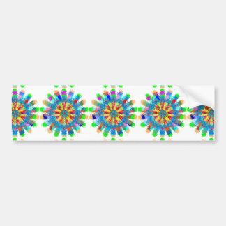 HAPPY Chakra : COLOR SPLASH Bumper Sticker