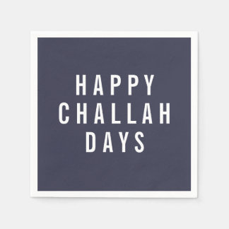 Happy Challah Days | Funny Holiday Hanukkah Paper Napkins
