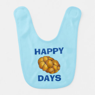 Happy Challah Days Hanukkah Chanukah Holiday Bib