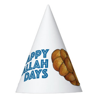 Happy Challah Days Hanukkah Chanukah Holiday Bread Party Hat