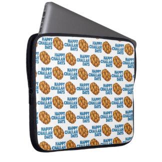 Happy Challah Days Hanukkah Chanukah Jewish Bread Laptop Sleeve