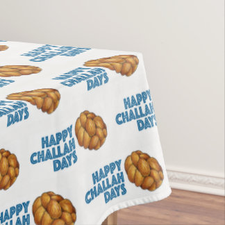 Happy Challah Days Hanukkah Chanukah Jewish Bread Tablecloth
