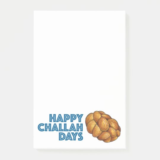 Happy Challah Days Hanukkah Chanukah Post-it® Notes