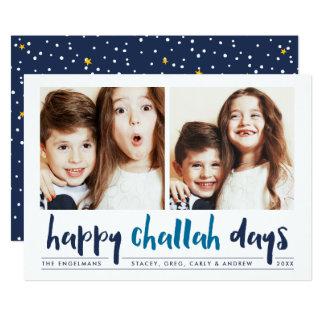 Happy Challah Days   Hanukkah Photo Card