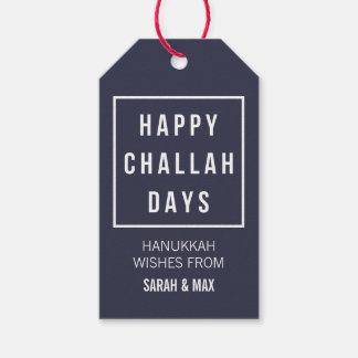 Happy Challah Days | Modern Minimalist Hanukkah Gift Tags