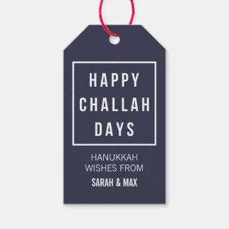 Happy Challah Days | Modern Minimalist Hanukkah Pack Of Gift Tags