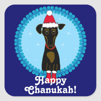 Happy Chanukah! Dachshund Stickers