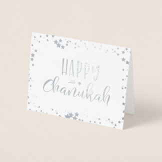 Happy Chanukah Foil Card