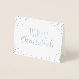 Happy Chanukah Foil Card