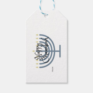 Happy Chanukah gift tag