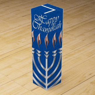 Happy Chanukah - Menorah & Dradels 2-Wine Gift Box