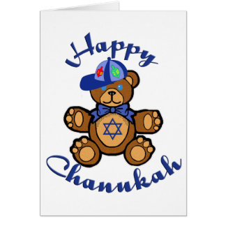 Happy Chanukah Teddy Bear Card