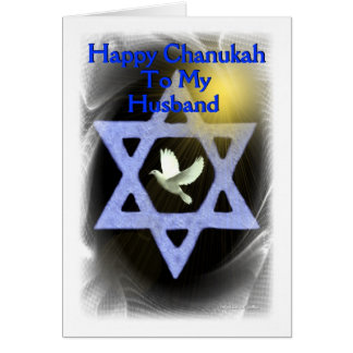Happy Chanukah - To my  husband Card