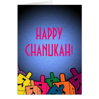 Happy Chanukah with dreidles Card