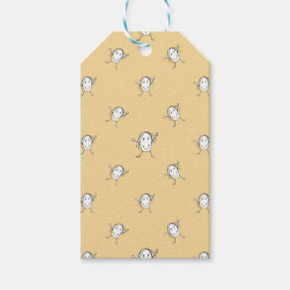 Happy Character Kids Motif Pattern Gift Tags