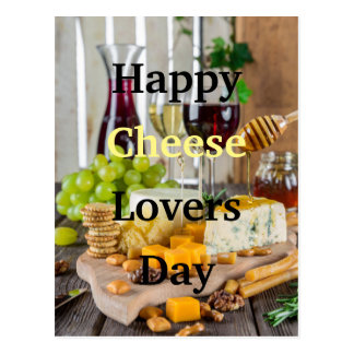 Happy Cheese Lovers Day Postcard