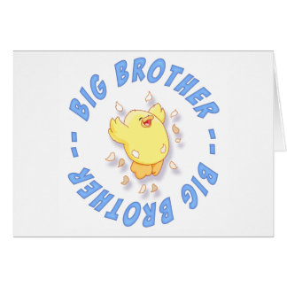 Happy Chick Big Brother Note Card