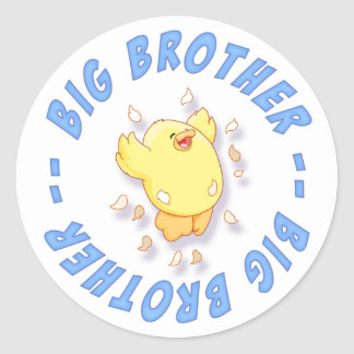 Happy Chick Big Brother Stickers