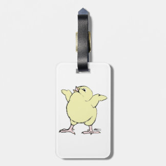 Happy Chick Luggage Tag