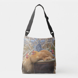 Happy Chickens And Eggs Crossbody Bag