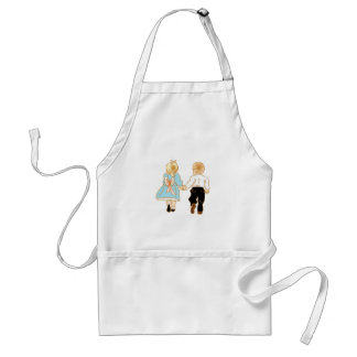 Happy Childhood Memories Holding Hands Standard Apron