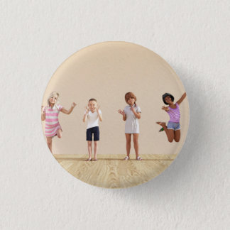 Happy Children in a Day Care or Daycare Center 1 Inch Round Button