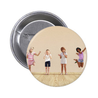 Happy Children in a Day Care or Daycare Center 2 Inch Round Button