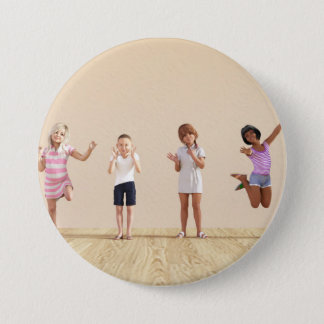 Happy Children in a Day Care or Daycare Center 3 Inch Round Button
