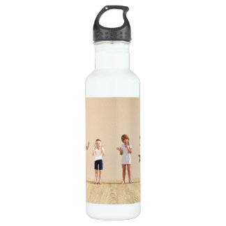 Happy Children in a Day Care or Daycare Center 710 Ml Water Bottle