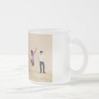 Happy Children in a Day Care or Daycare Center Frosted Glass Coffee Mug