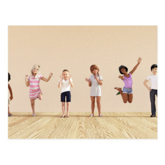 Happy Children in a Day Care or Daycare Center Postcard