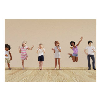 Happy Children in a Day Care or Daycare Center Poster