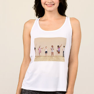 Happy Children in a Day Care or Daycare Center Tank Top