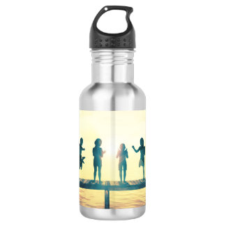 Happy Children Playing in the Park Illustration 532 Ml Water Bottle