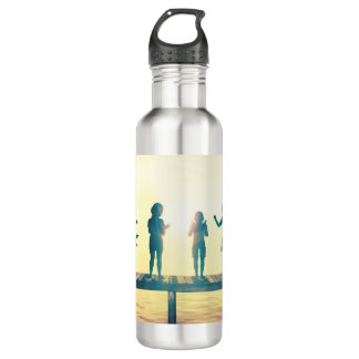 Happy Children Playing in the Park Illustration 710 Ml Water Bottle