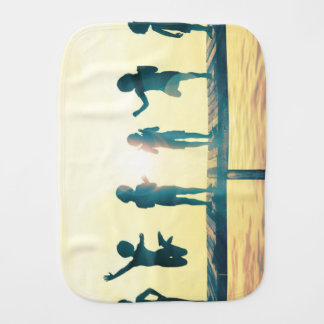 Happy Children Playing in the Park Illustration Burp Cloth