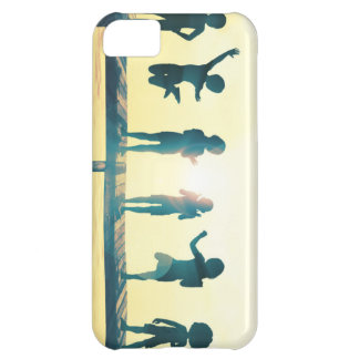 Happy Children Playing in the Park Illustration Case For iPhone 5C