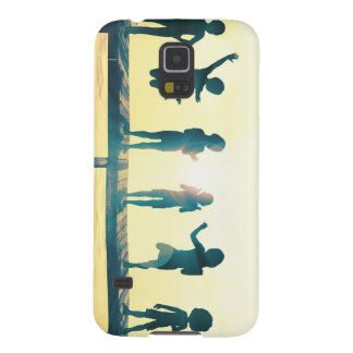 Happy Children Playing in the Park Illustration Galaxy S5 Cover