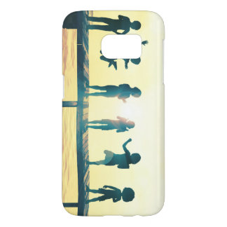 Happy Children Playing in the Park Illustration Samsung Galaxy S7 Case